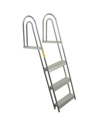 Modern And Functional Styling Provides Swimmers With A New Degree Of Comfort The Dual Hand Rails And Curved Traction Steps Combined Ladder Step Ladders Dock