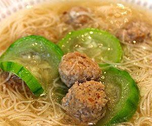 Misua with Meatballs and Luffa Soup   Philippine cuisine ...