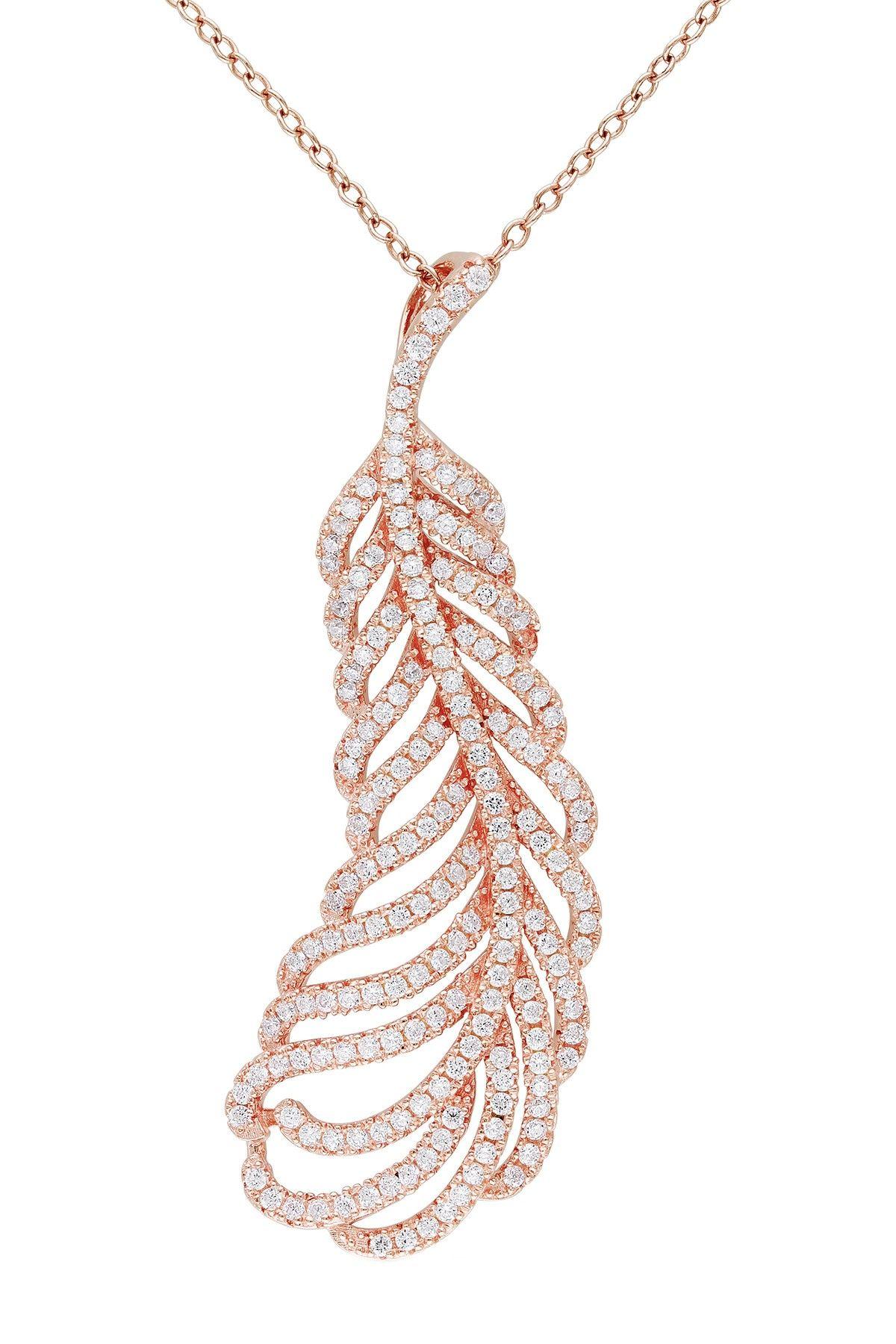 CZ Leaf Charm Necklace
