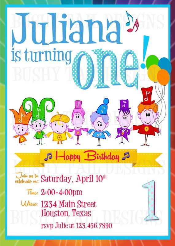 Notekins Birthday Invitation 1 Year Old Party