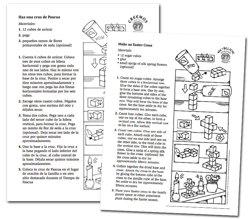 Download a special Easter Cross Printable Activity for