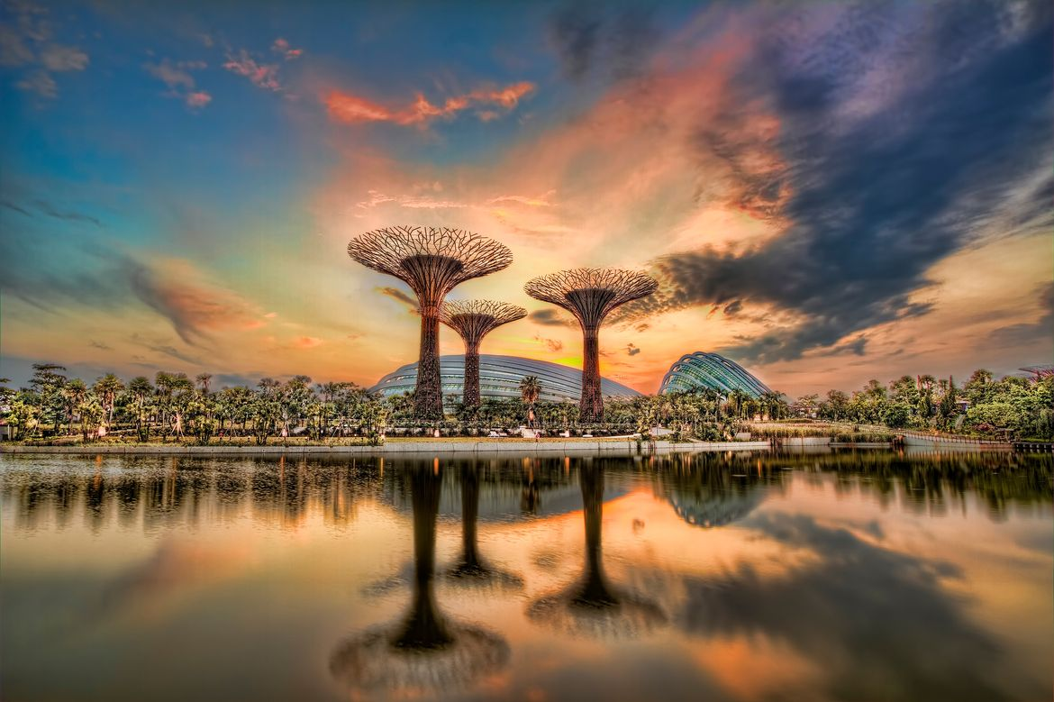 Sunrise at Garden by the Bay, Singapore. Photo by Rajat Chauhan ...