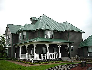Metal men roofing northwest arkansas house pinterest metal roof metals and house - Paint for exterior metal pict ...