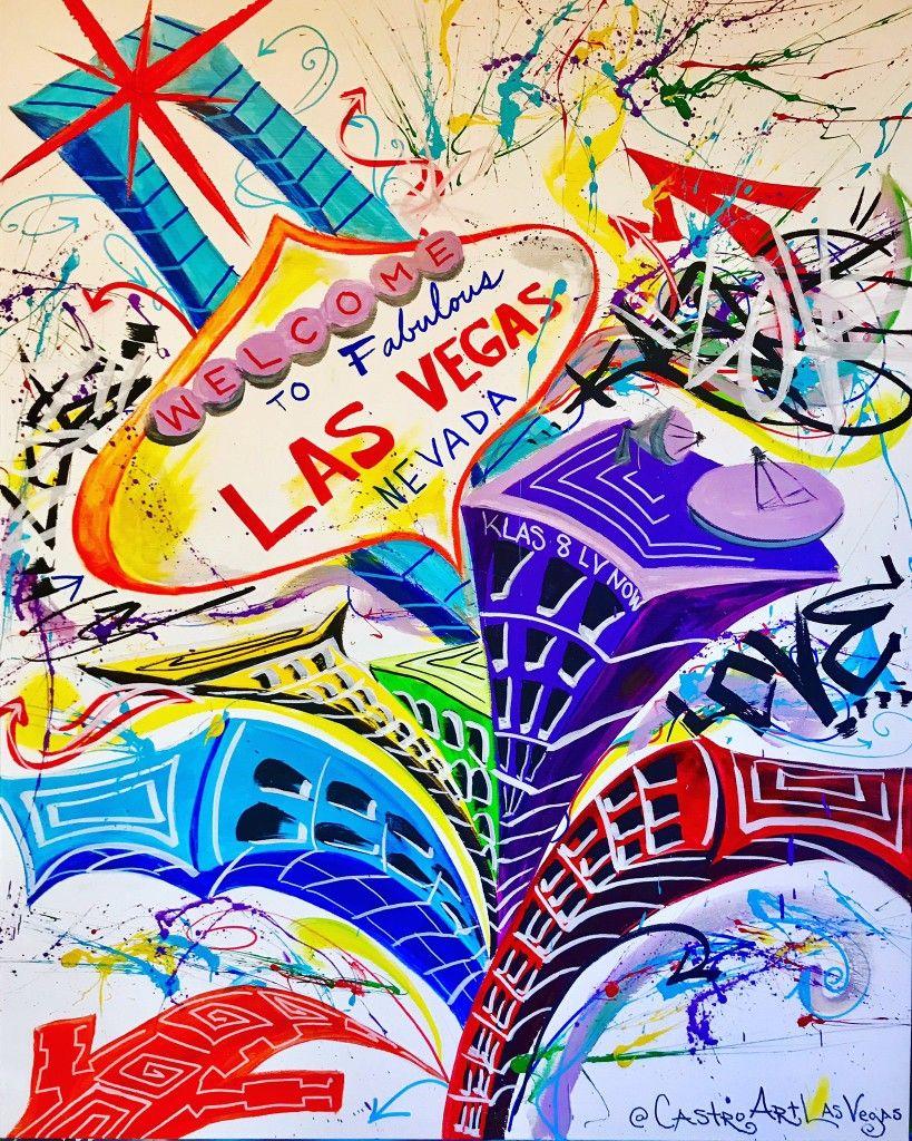 Las vegas painting by castro art with images las vegas