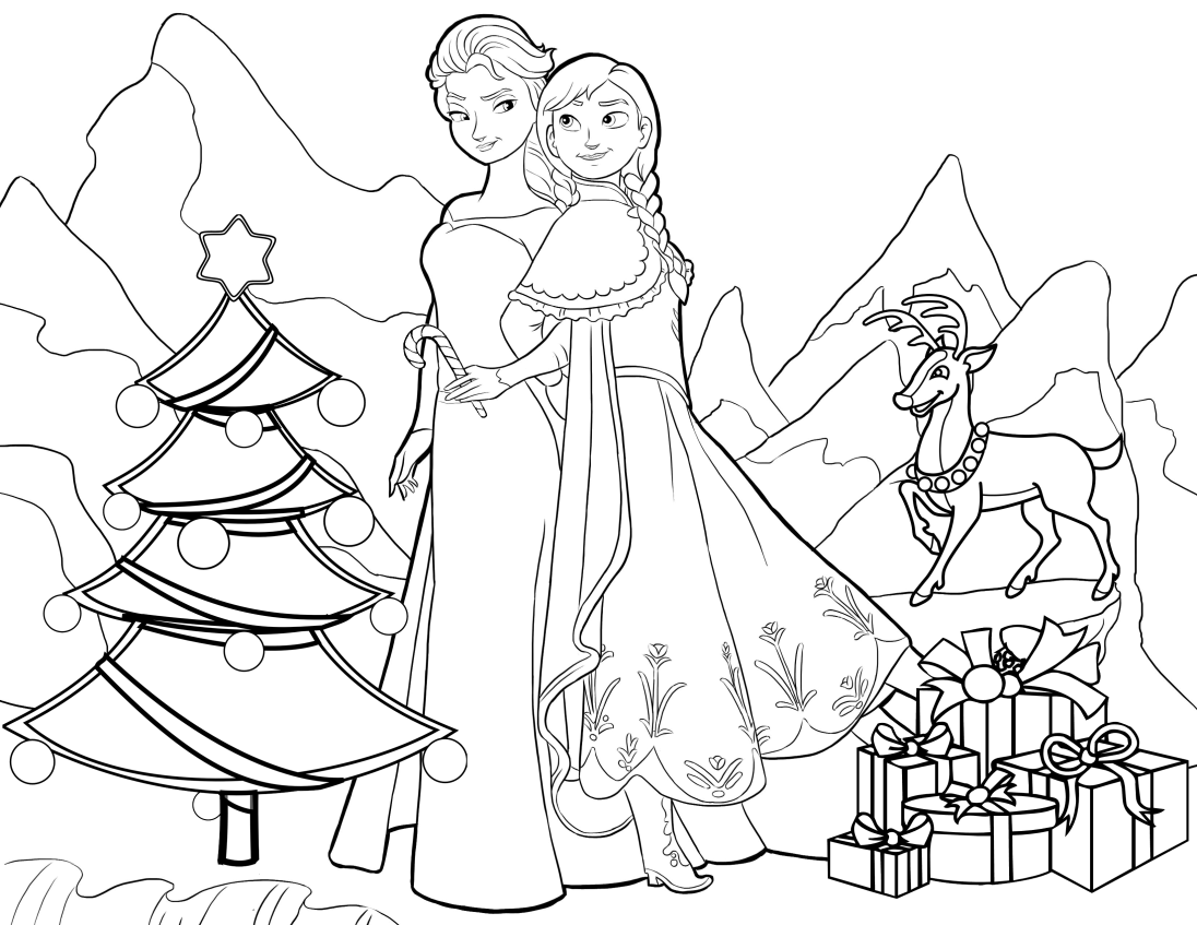 Frozen Christmas Coloring Pages Princess Coloring Pages Christmas Coloring Pages Mermaid Coloring Pages