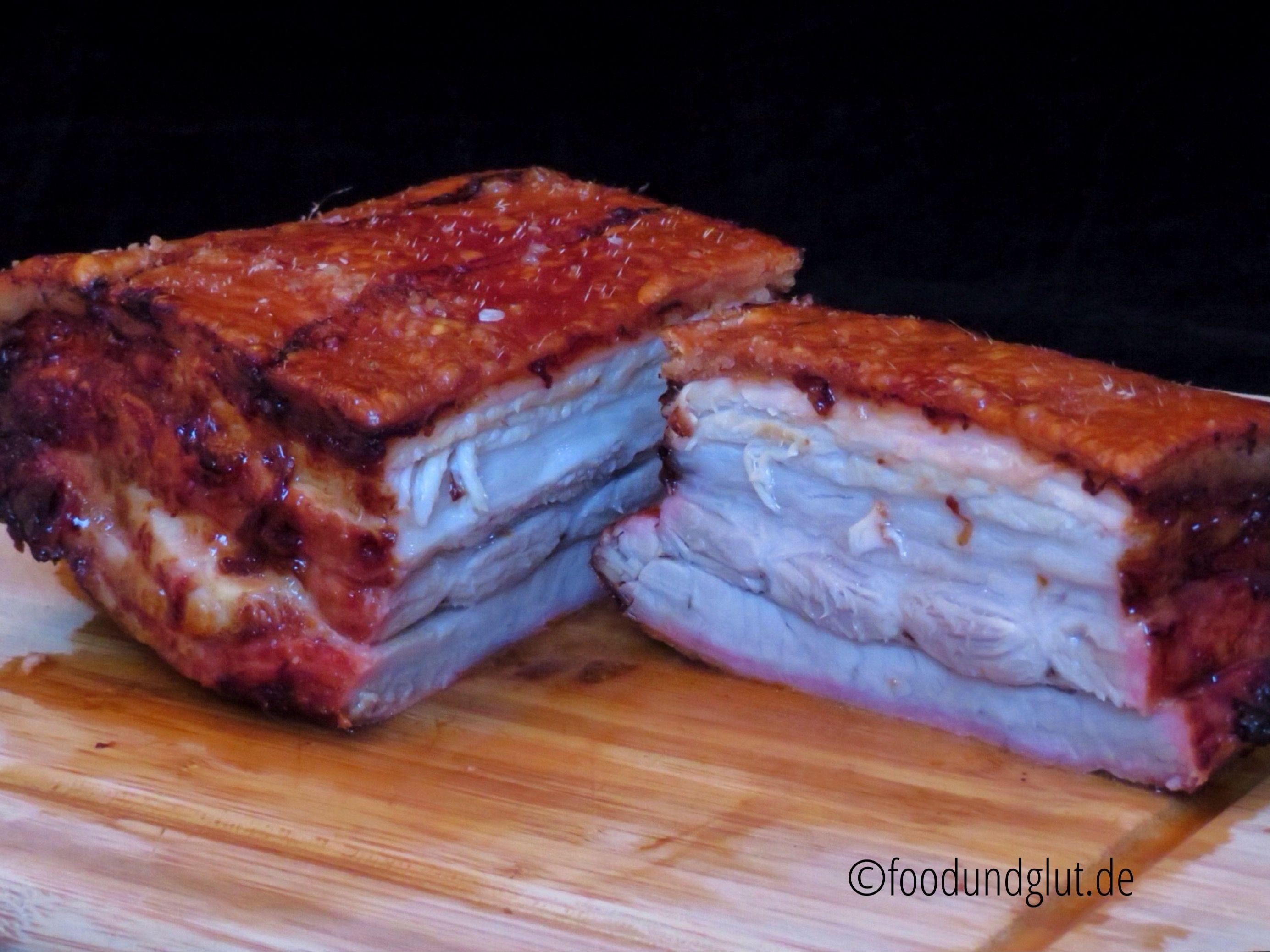Schweinebauch mit Knusperkruste #grilledporksteaks