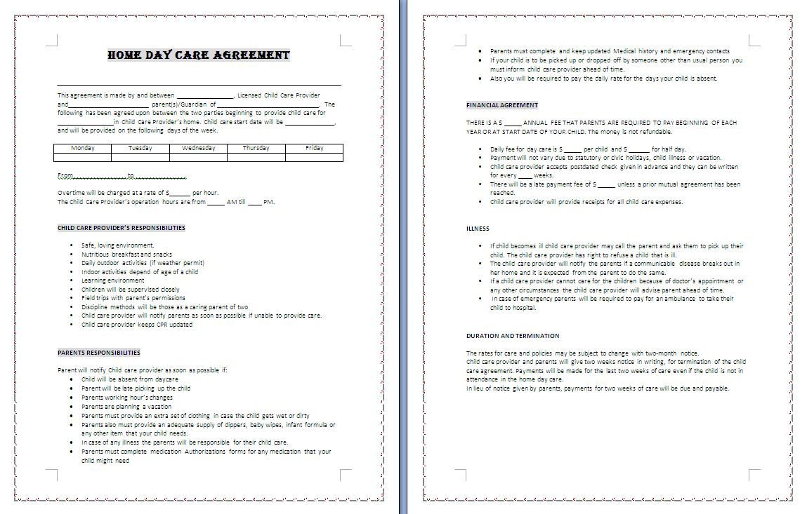 Agreement Business Template Templates Business