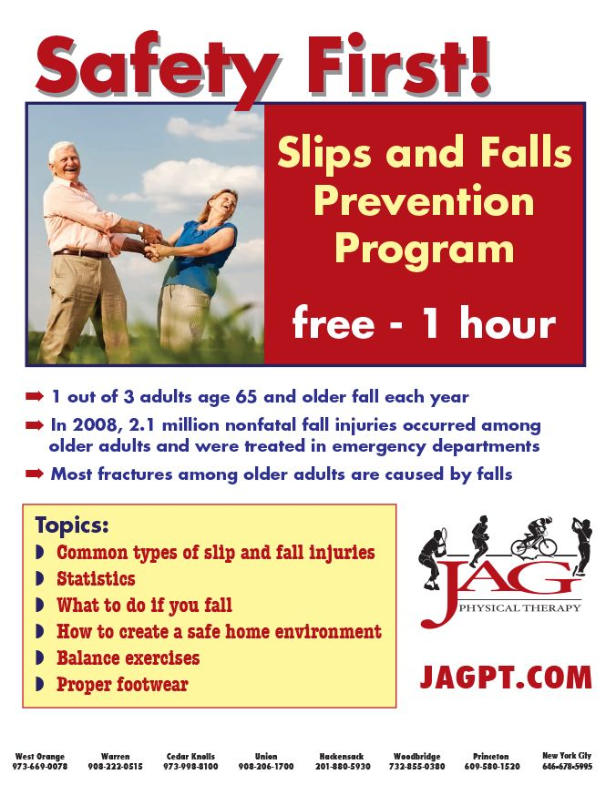 Safety First Slips And Falls Prevention Program For Senior