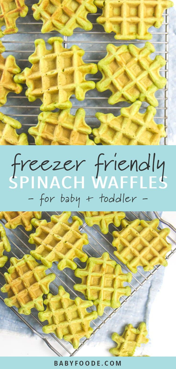 Freezer-Friendly Spinach Waffles for Baby + Toddler #meals