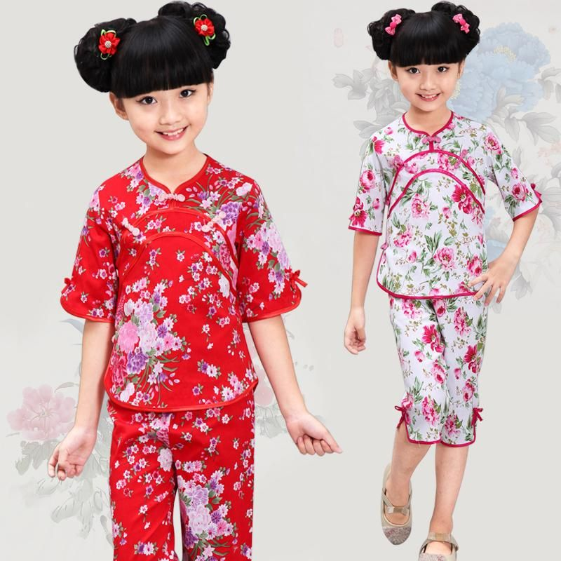 024064e161a3b New Arrival Girls Chinese Traditional Tang Suit Costumes Children ...
