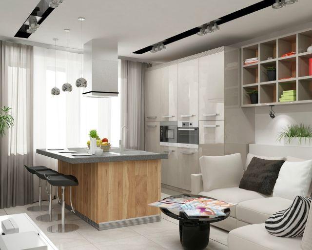 Bildergebnis für wohnküche wenig raum   Wohnzimmer mit ...