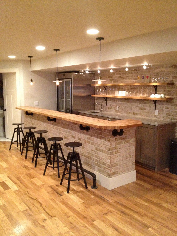 Butcher Block Countertops Bars For Home Basement