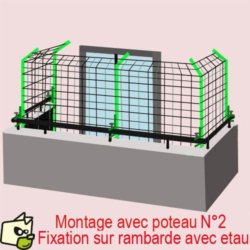 filet s curit habitation pour chat et petit chien filet petits chiens chats et balcons. Black Bedroom Furniture Sets. Home Design Ideas