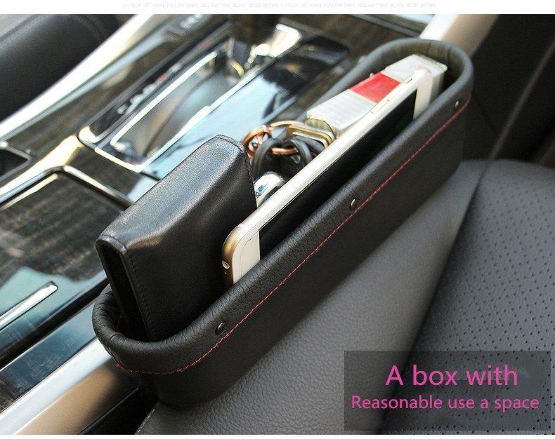 Favorable Leather Car Seat Storage Box Auto Gap Pocket Organizer For Phone Card Cigarettes