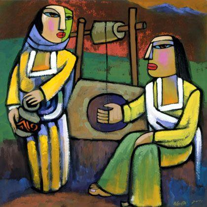 Samaritan woman at the well reflection