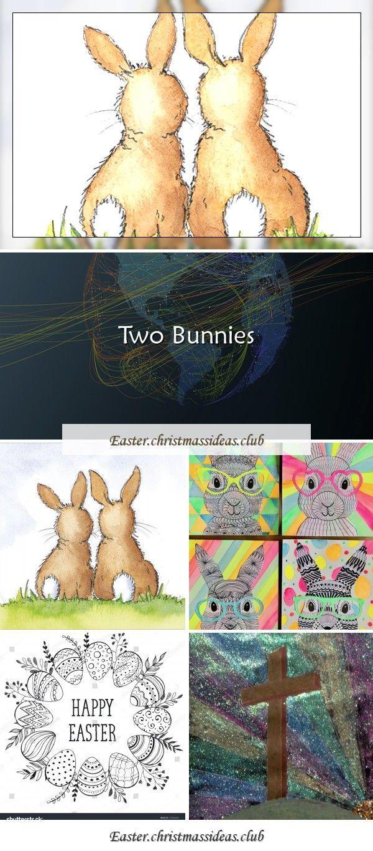 Photo of Funky Easter Bunnies zentangle drawing artforki … – art artforki Funky Easter …