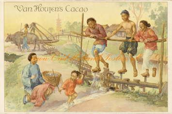 Old Van Houten cacao add. Dutch Indies.
