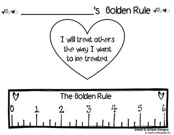 photo about Golden Rule Printable named Freebie Reduce and Paste Craft for The Golden Rule preschool