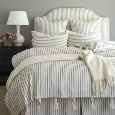 Ticking Stripe Duvet Navy Ballard Designs Farmhouse Bedding Sets Ticking Stripe Bedding Farmhouse Bedding