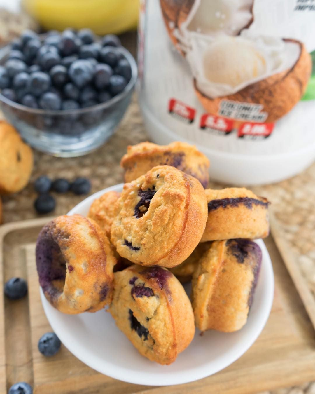 1 Up Nutrition Made In Usa On Instagram Blueberry Protein Muffins Ingredients 1 3 Cup Oat Fl Blueberry Protein Muffins Protein Muffins Almond Flour