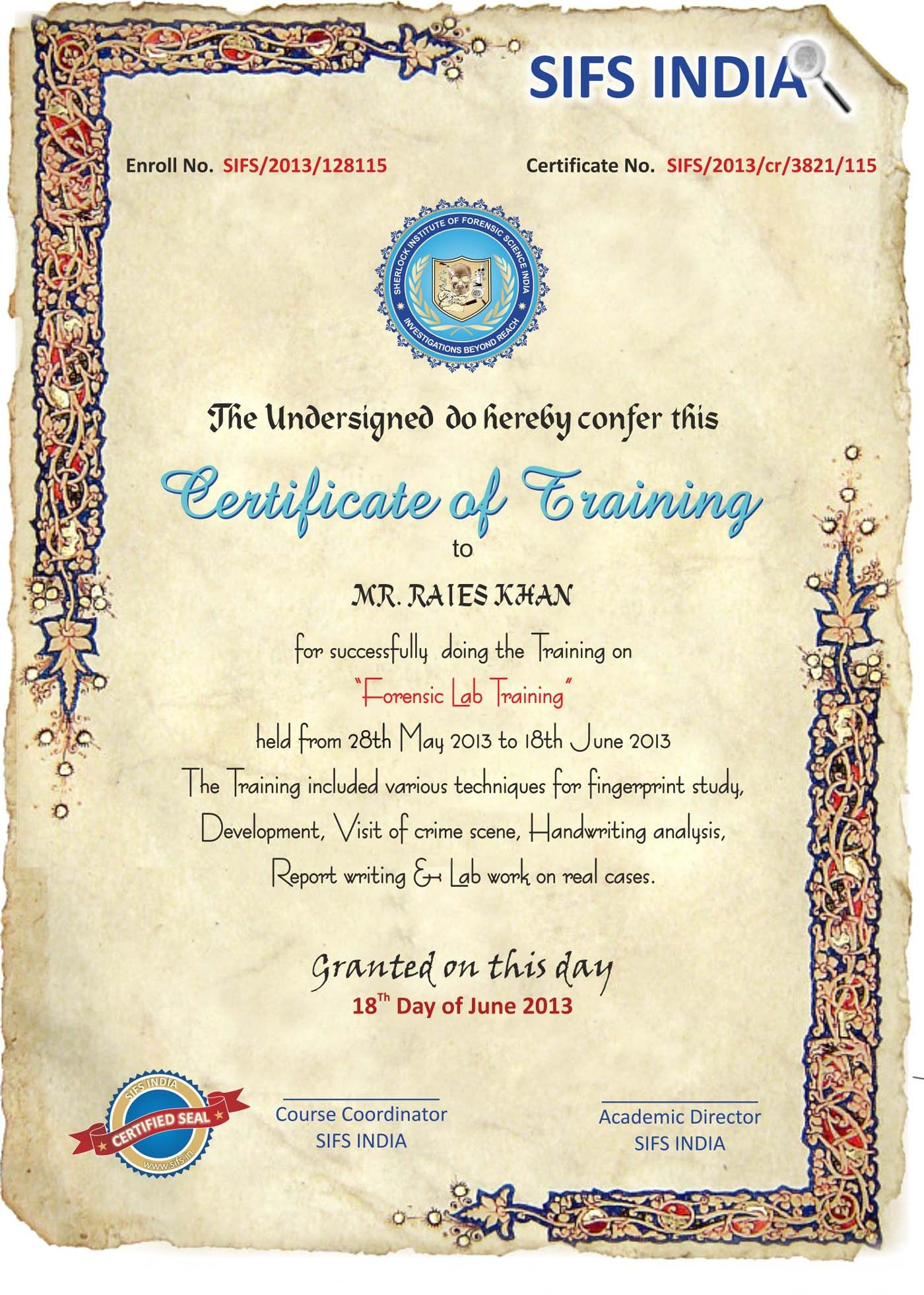 Certificate In Forensic Science Forensic Courses Criminal