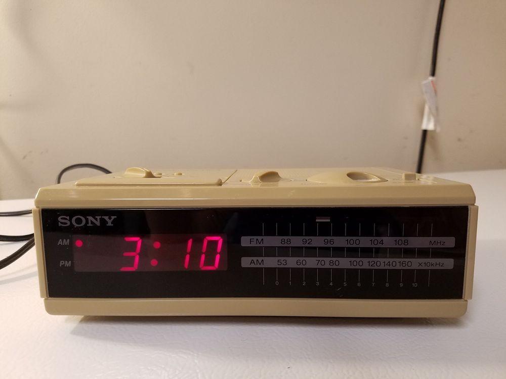 Vintage Sony Dream Machine Icf C2w Am Fm Digital Alarm Clock Radio