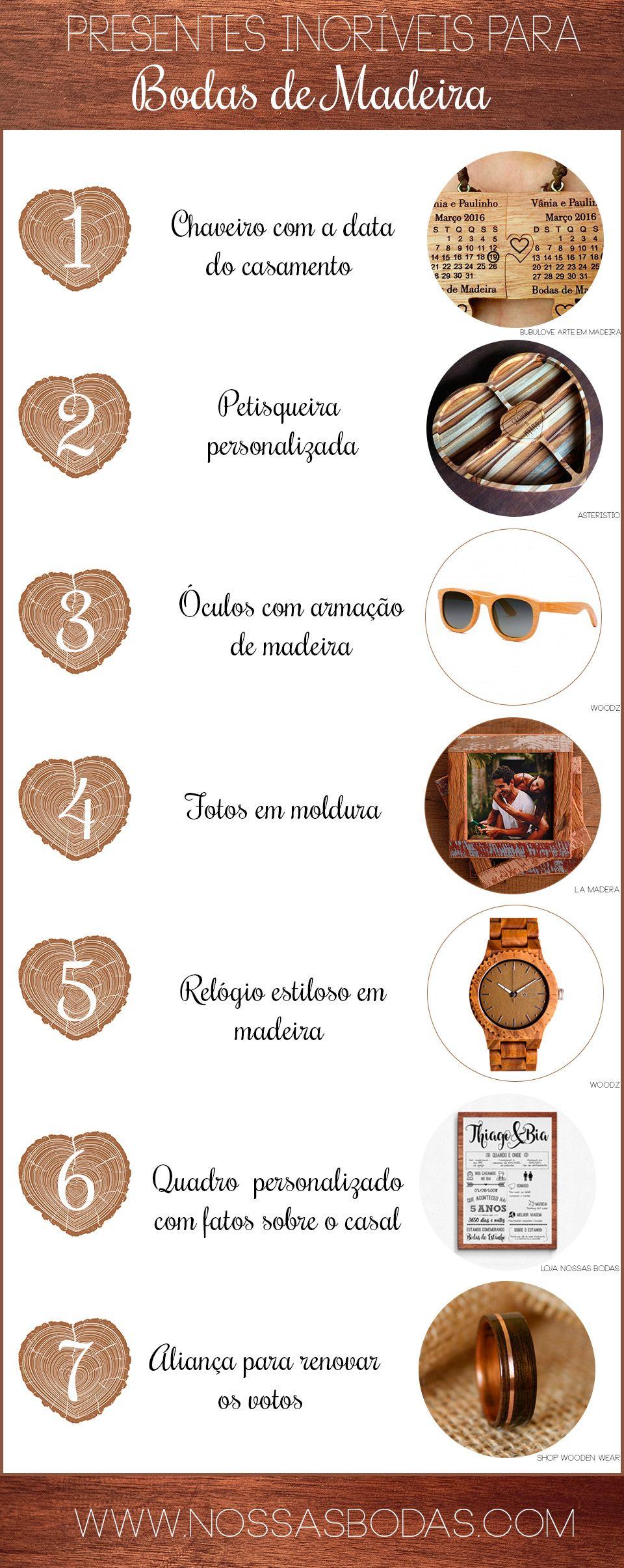 7 Presentes Incriveis Para Bodas De Madeira Aniversario De