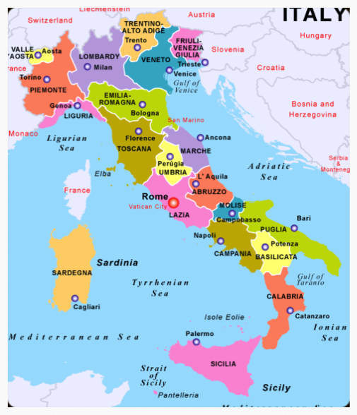 Golfing Italia Recommended Hotels Golf Courses In Italy Maps Of Italian Regions Capital Cities Ai Italien Karte Regionen Italien Karte Italien Reisen
