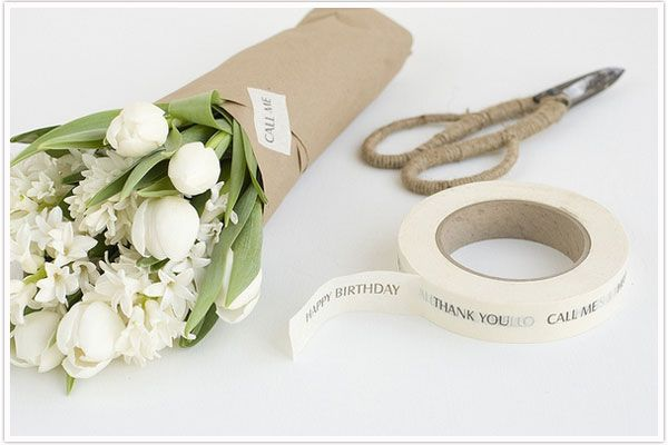 perfect styling and beautiful kraft paper wrapping, by Chelsea Fuss for tokketok.