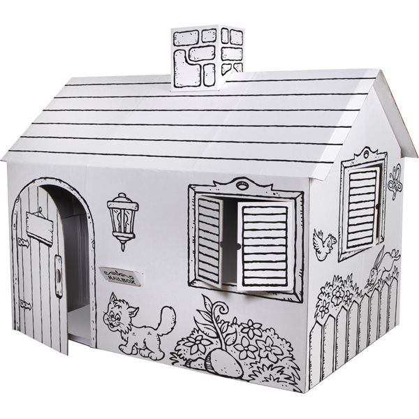Discovery Kids Color Me Cardboard Playhouse Meijer | paper - pop-up ...