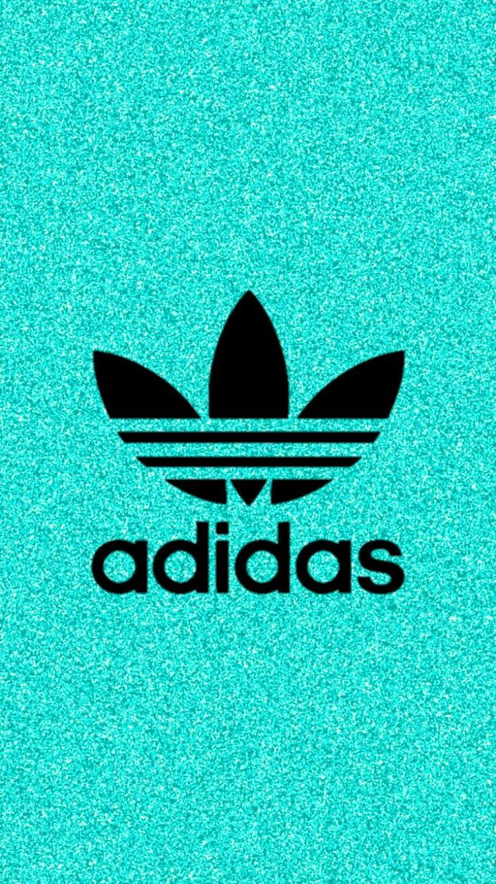 緑のラメがかっこいいアディダス/adidasのロゴiPhone壁紙