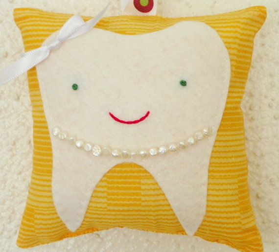 Pearly Tooth Fairy Pillow by busybonniebee on Etsy, $15.00