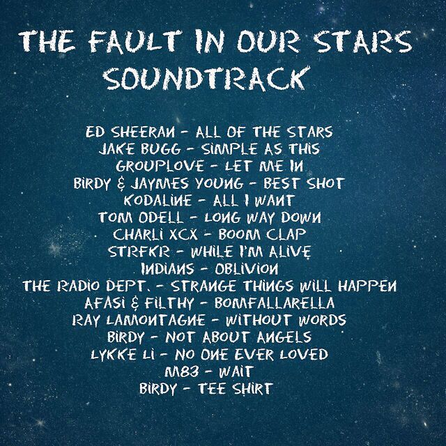 The Fault In Our Stars Soundtrack The Fault In Our Stars John