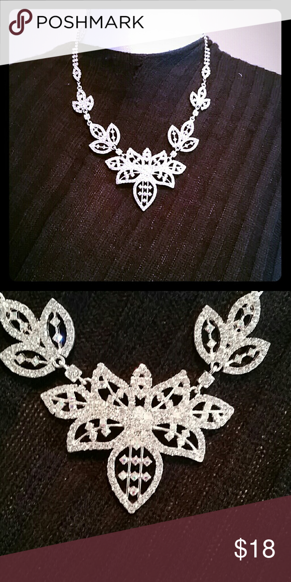 Diamond like Intricately Designed Necklace Stunning necklace with adjustable claw clasp. NWOT never worn except for the manequin lol. Jewelry Necklaces