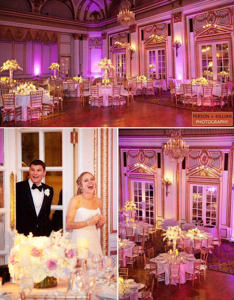 Beautiful Lighting In The Grand Ballroom Sets Tone For An Elegant Evening Wedding