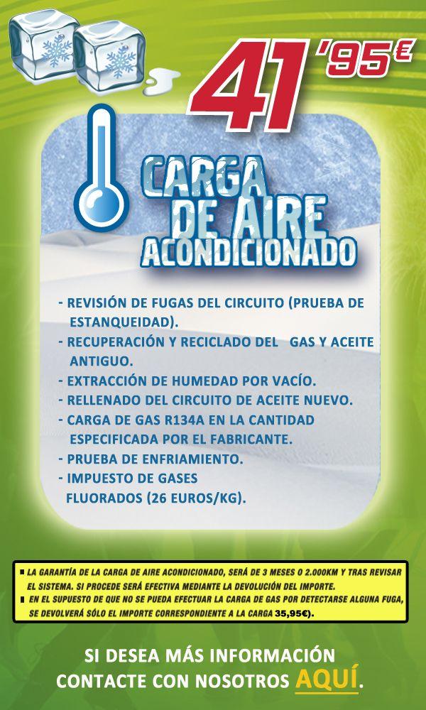 Oferta Aurgi Carga de Aire Acondicionado. Campaña