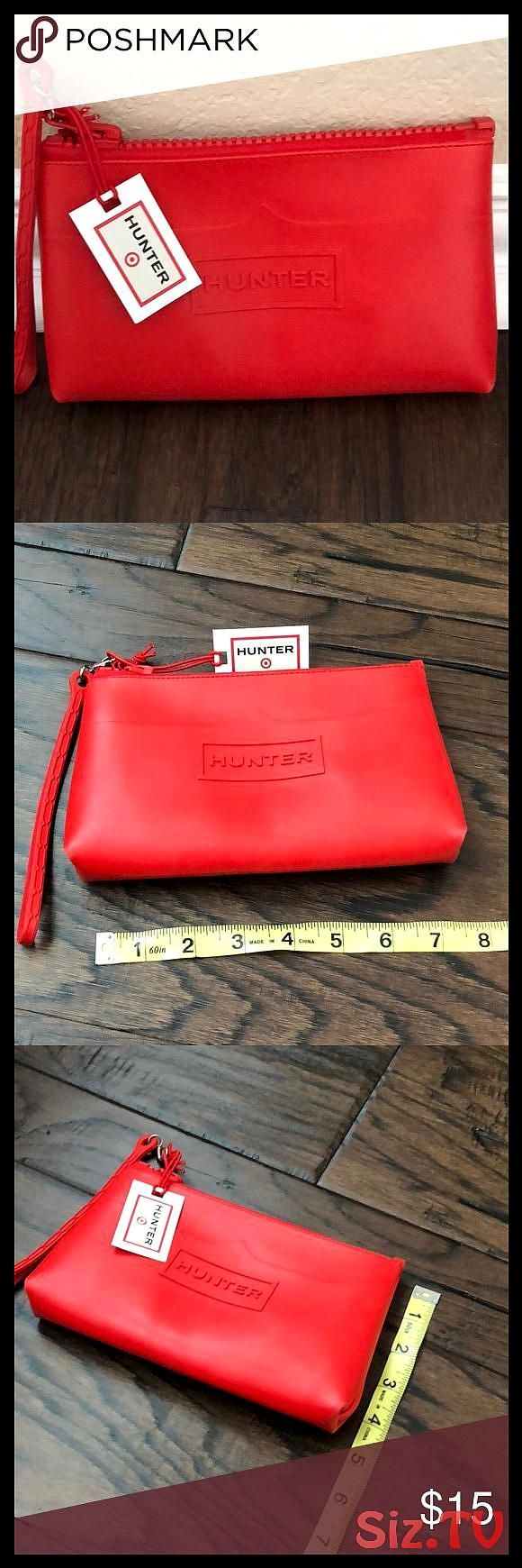 Red Hunter Wristlet Cutch Purse Target collection No flaws zipper works Tag stil