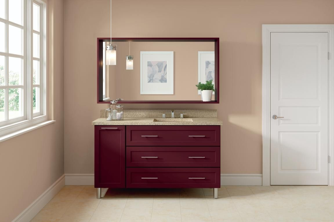 Diamond Intrigue Paloma Maple Winery Red Bathroom Cabinets