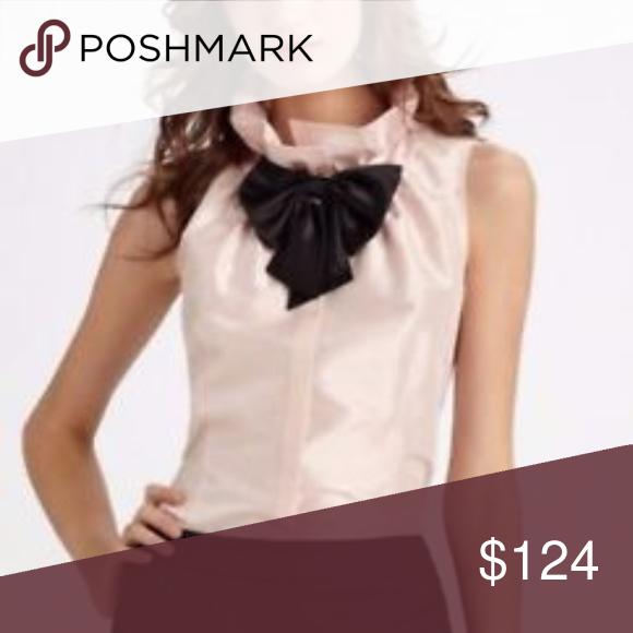 e08719d4f71801 Lafayette 148 Clarissa Taffeta Silk Blouse Size 14 Beautiful Lafayette 148  silk Clarissa blouse in blush pink (neck bow missing).
