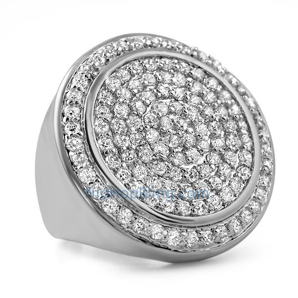 Mega Circles of Ice CZ Bling Bling Ring #ring #hiphopbling #hiphopjewelry #icedoutjewelry #czring #cz #bling #blingbling #ice #blingjewelry #blingblingjewelry #swag #micropave #icedout #diamondring