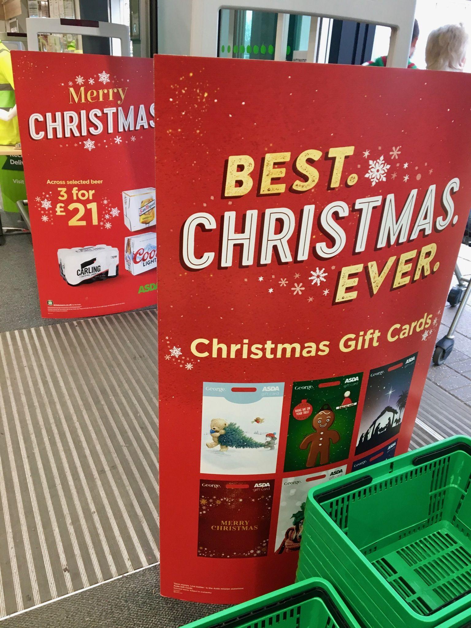 Asda Christmas Shoppermarketing Retail Pos Pointofsale Shopping Design Storedesign Passionateaboutpos Shopper Marketing Store Design Christmas Cards