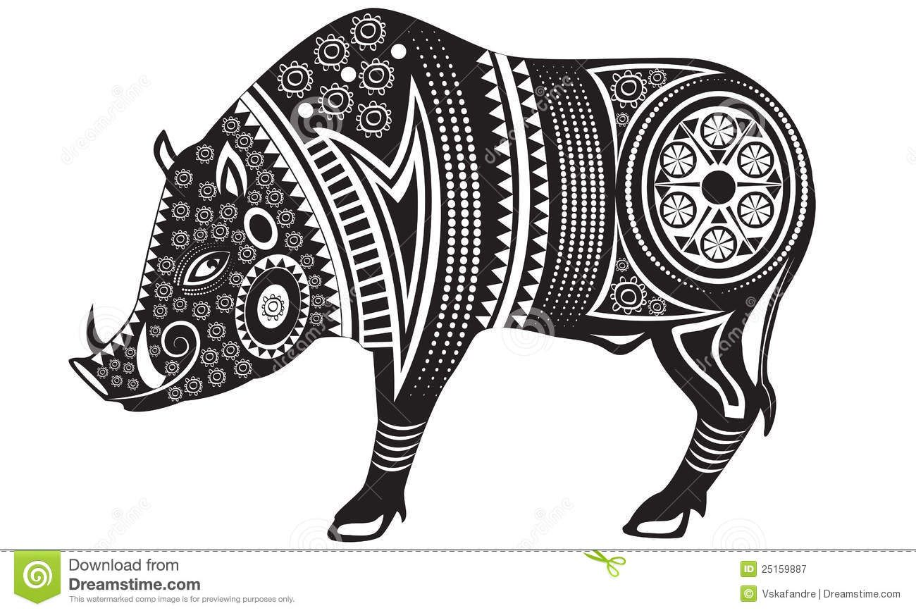Wild boar spirit animal google search wild boar inspiration vector illustration of wild totem animal boar buy this stock vector on shutterstock find other images biocorpaavc