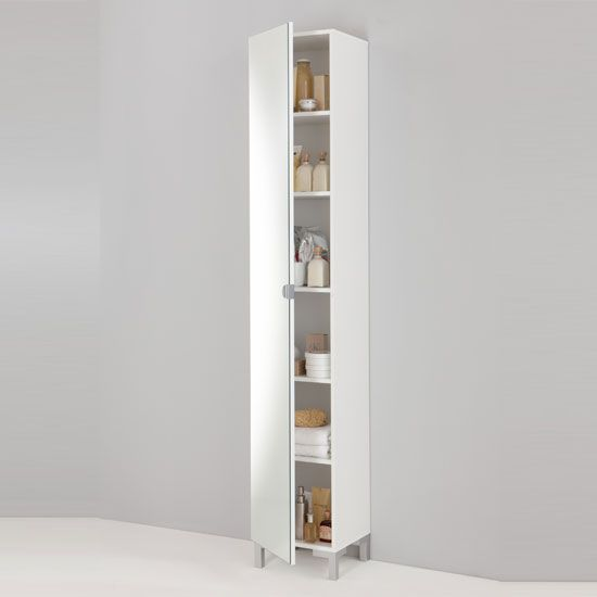 Tarragona bathroom cabinet floor standing in white for Floor standing corner bathroom cabinet