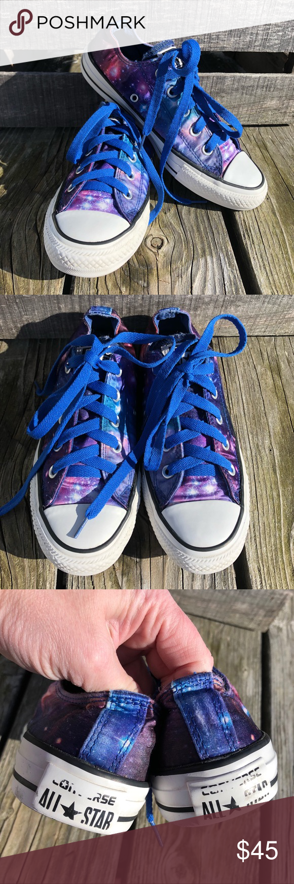 6441dd73abb518 🆕List! Coveted Satin Galaxy Converse🆕Laces! EUC! Always a favorite ...