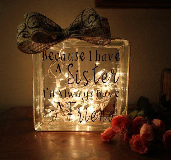 Schwester Geschenke Schwester Geburtstagsgeschenk für Schwester Geschenkideen Beleuchteter Gl... #giftsforsister