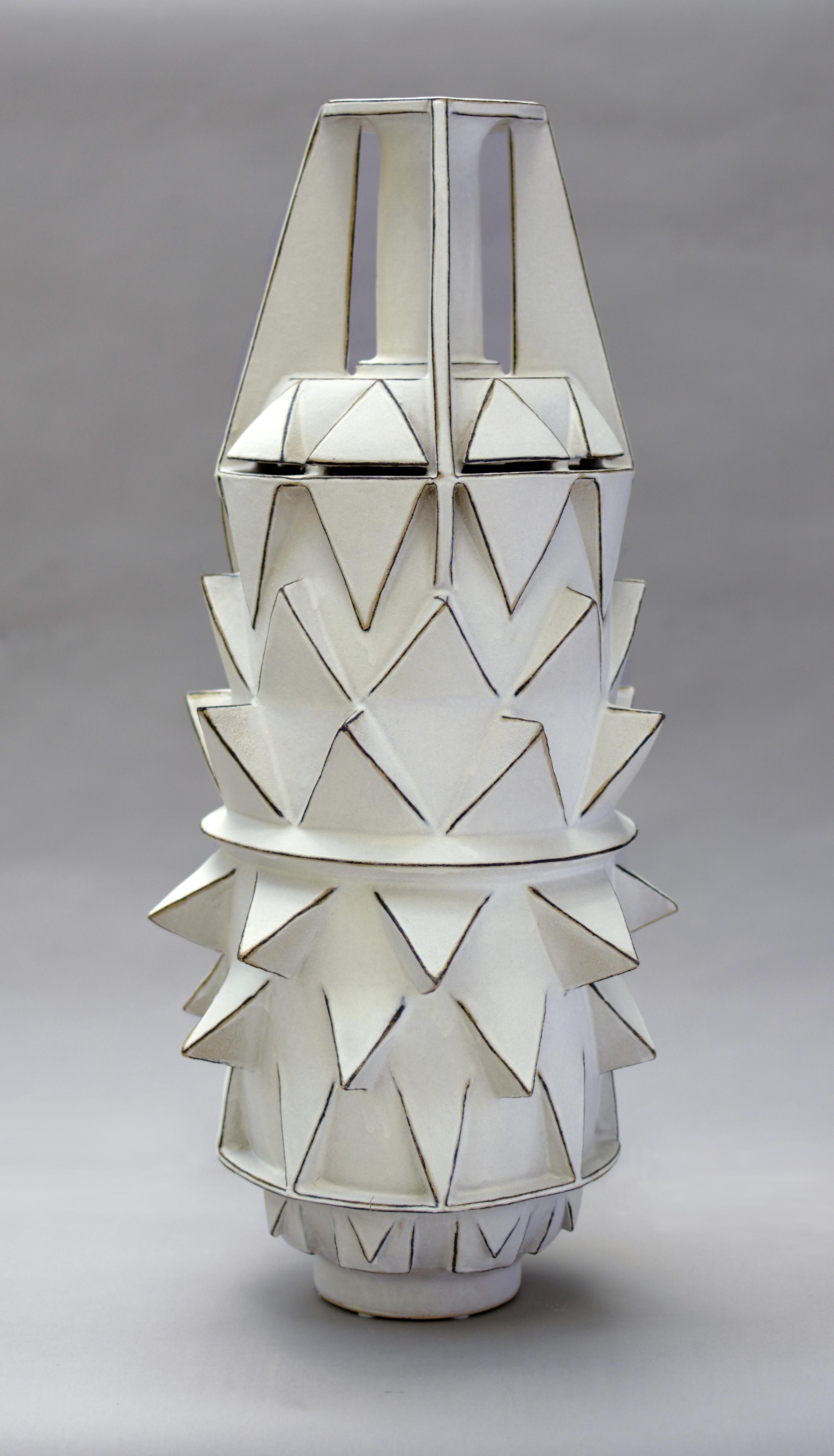 """Africa By Frank Barron  Throne  Hand Built Stoneware Cone 10 clay  glaze fired to cone 5.  21"""" x 10"""" x 10"""" 2013"""