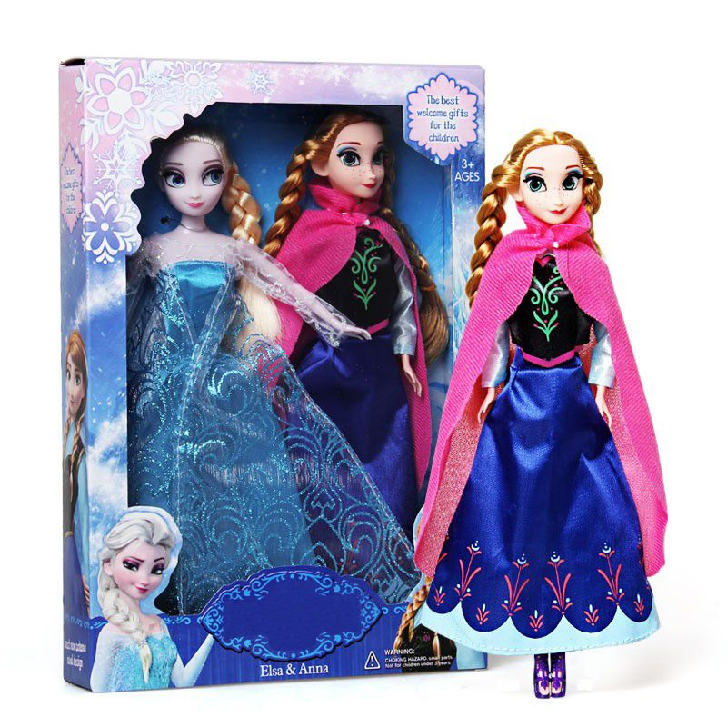 New 2016 Popular Toys Princess Anna And Elsa Doll 30cm Juguetes Boneca 2pcs Lot Brinquedo Gifts Toys For Girls Spielzeug Mädchen Frozen Puppen Elsa Frozen