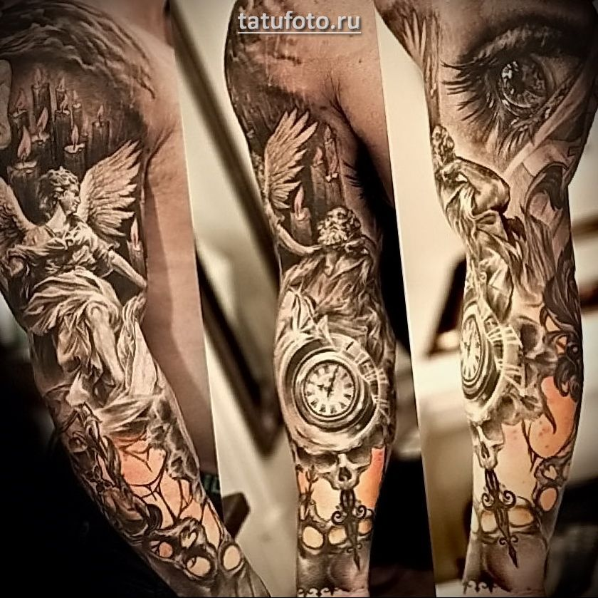 Картинки по запросу тату на всю руку   Tatuagem religiosa ...
