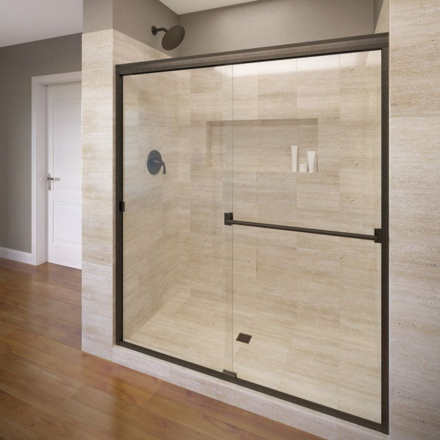 Basco Classic 56 In To 60 In Frameless Oil Rubbed Bronze Shower