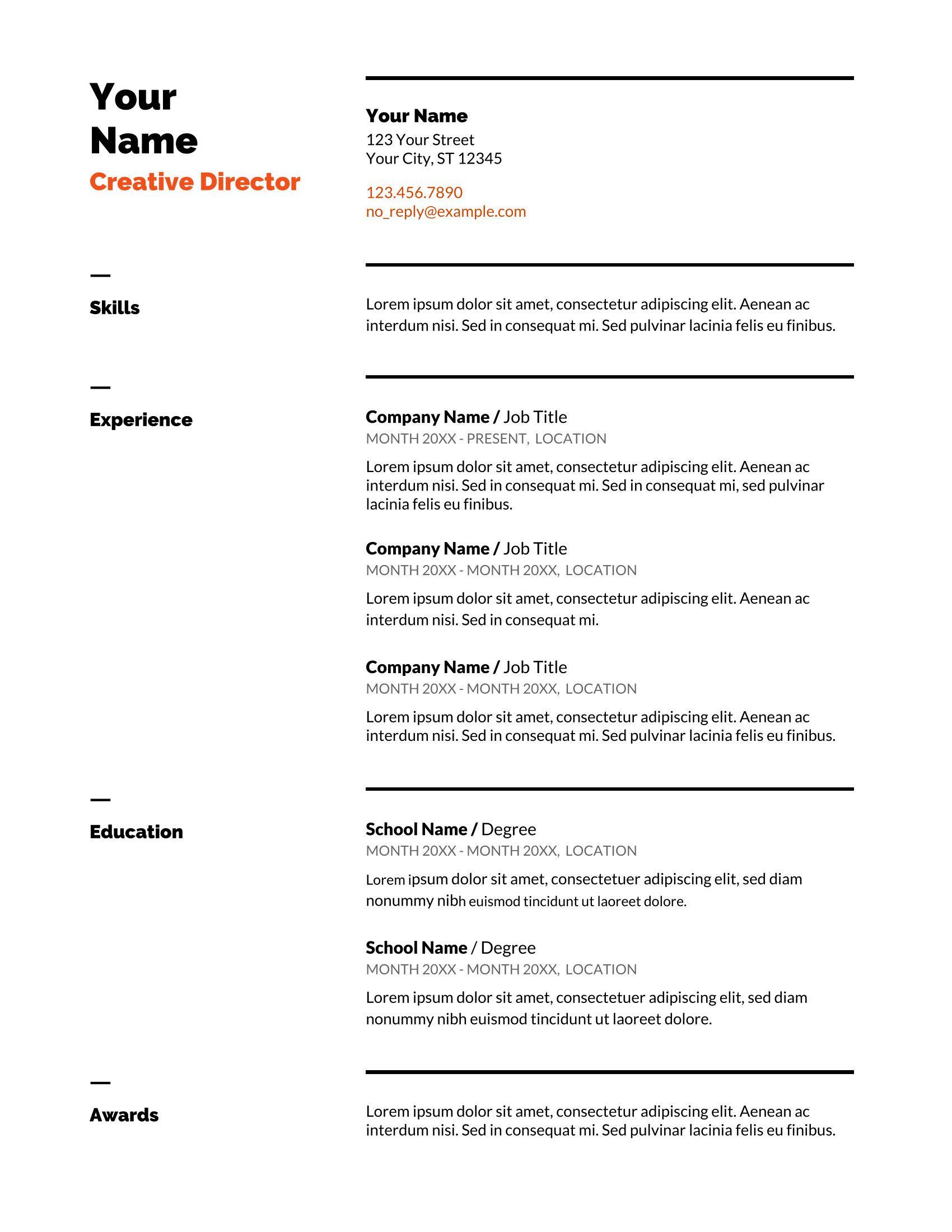google docs resume templates Downloadable resume